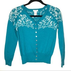 Sundance Sweet Nostalgia Embroidered Cardigan-XS
